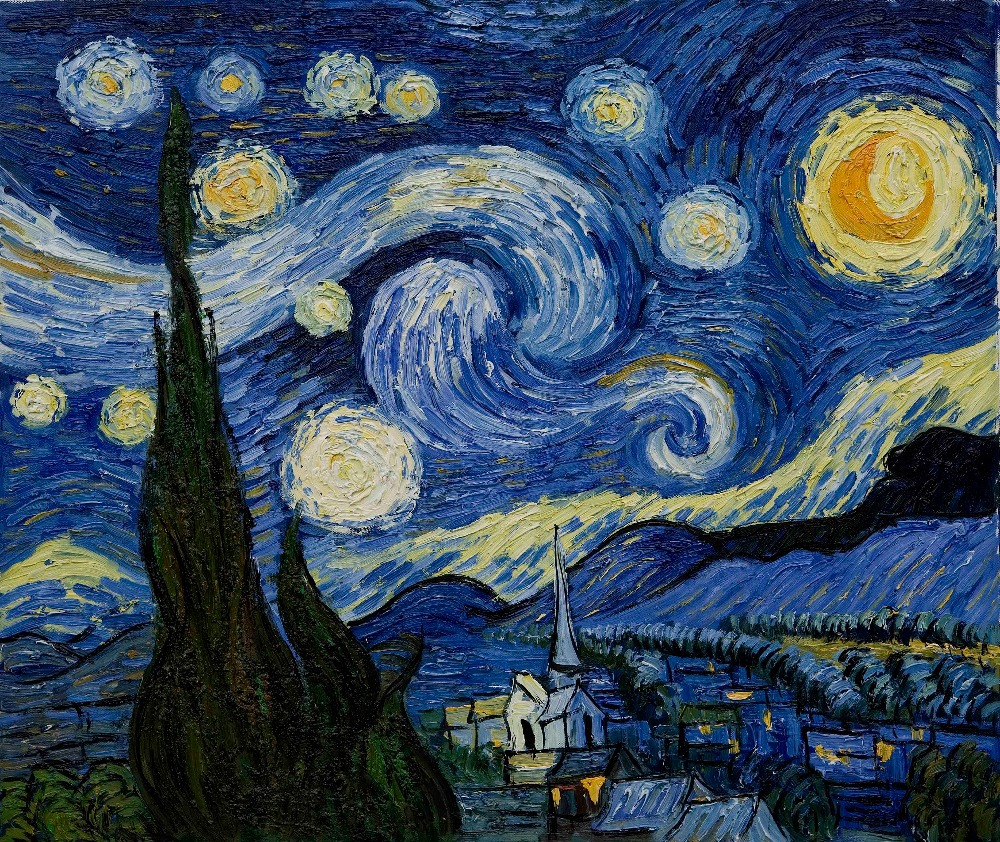 Starry night vincent van gogh famous modern abstract for La notte stellata vincent van gogh