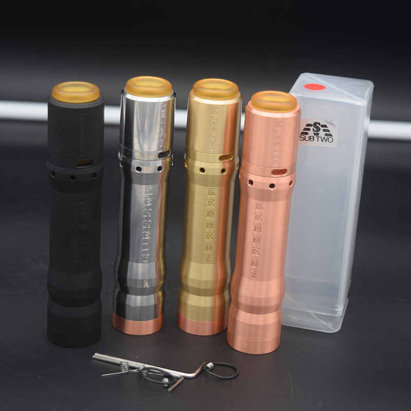 Kennedy Vindicator 25 Kit Mod 18650/20700/21700 Battery 26mm Diamater Brass Red Copper Vaporizer Mod Mechanical Mod