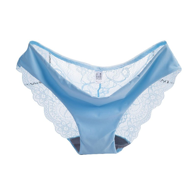d3794779ea097 Cotton Embroidered Women s Sexy Lace Panties Seamless Breathable Panty  Hollow Plus Size Briefs Underwear