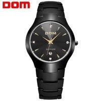 DOM Luxury Sapphire Crystal Top Brand Men S Watch Tungsten Steel Wrist 30m Waterproof Business Quartz
