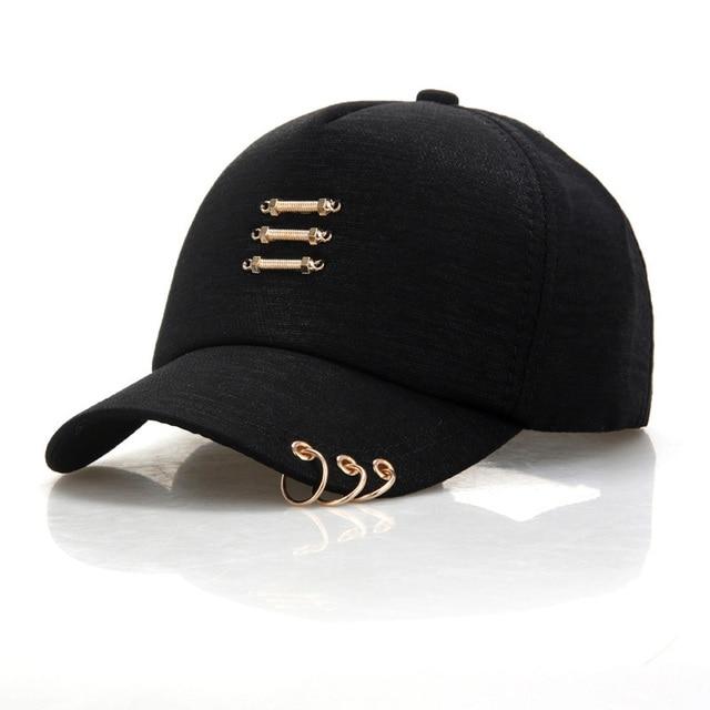 4169649207b Metal Circle Baseball Caps Women Men Casual Hats Summer Sun Hats SnapbacK  Hip Hop Caps casquette czapka z daszkiem