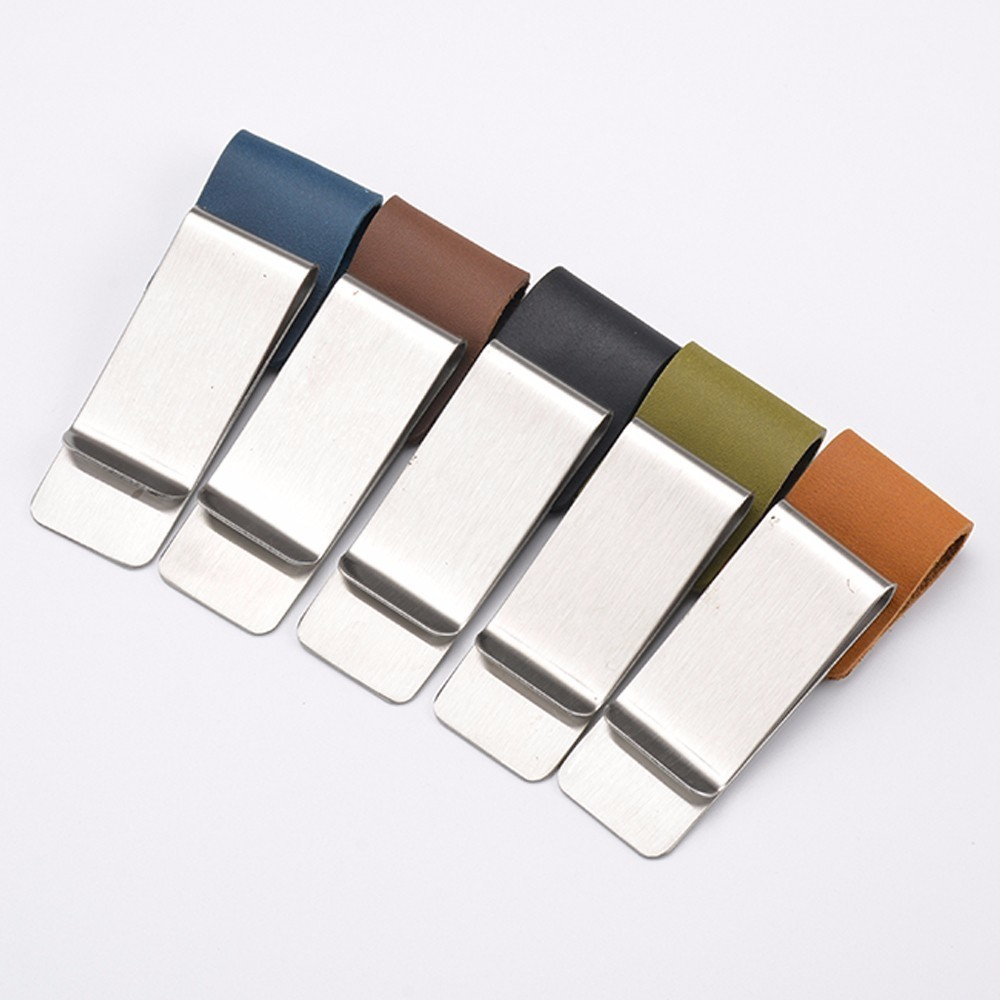 Genuine Leather Metal Pen Holder Brass Stainless Steel Clip For Travel Journal Notebook Planner Accessory Stationary Products