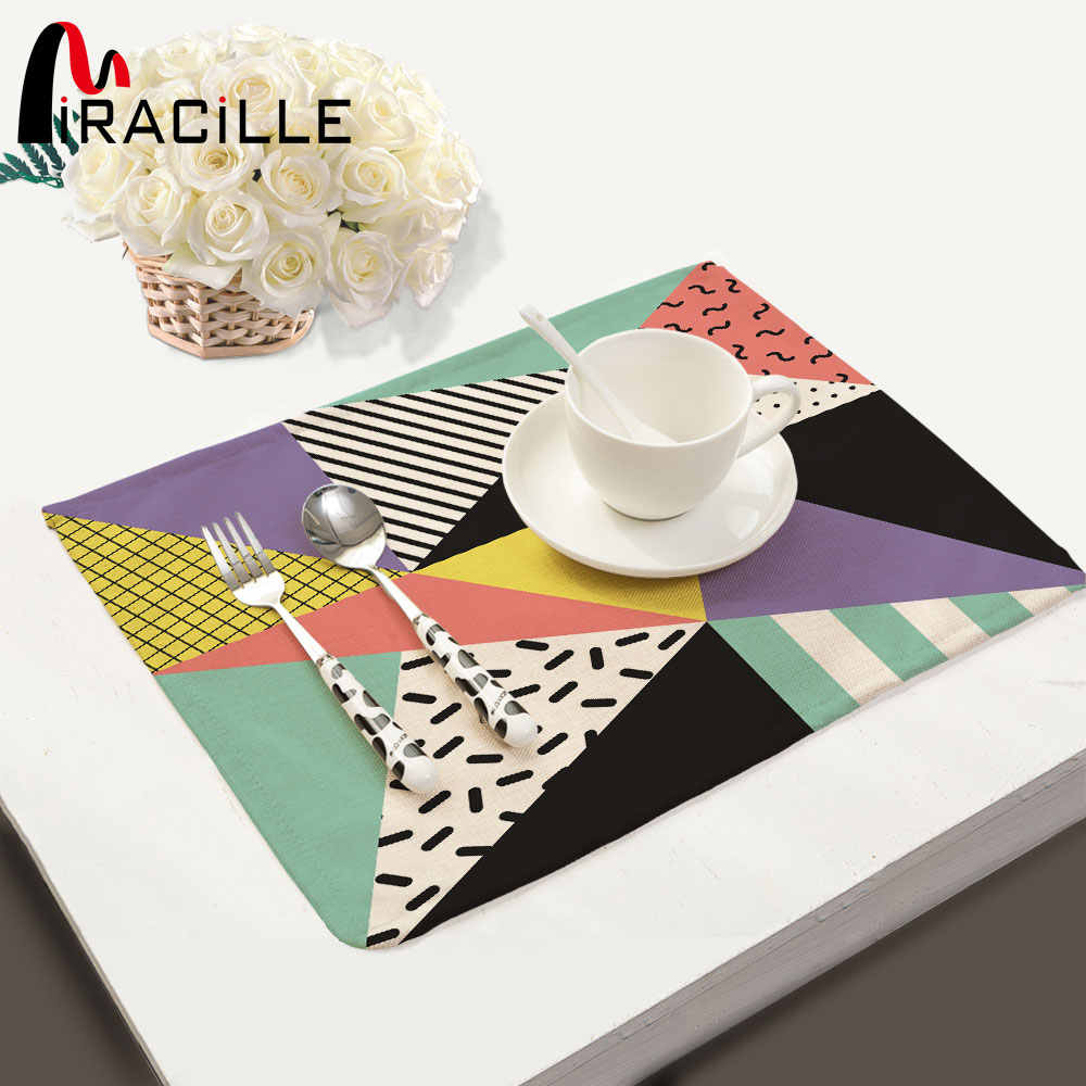Miracille Geometry Pattern Coffee Table