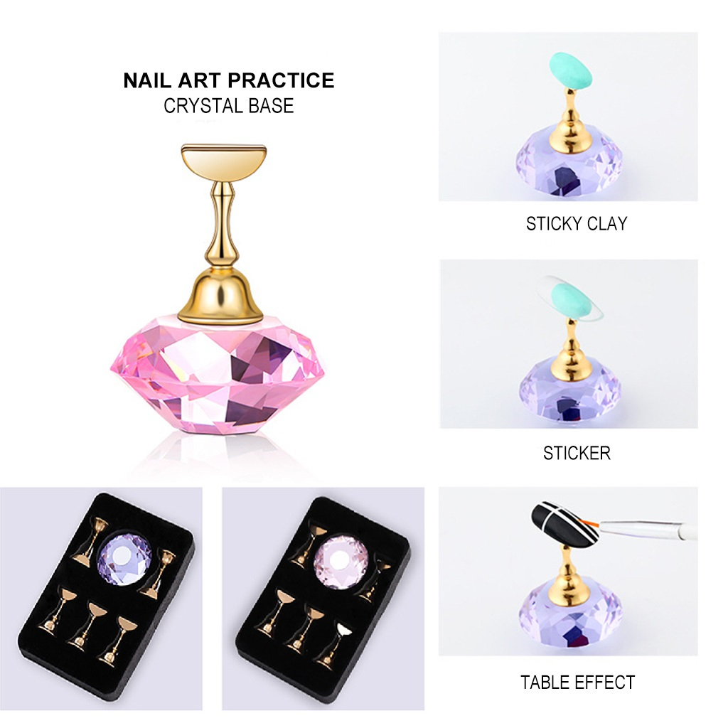 Beauty Nail Art Practice Training Display Magnetic Stand Acrylic Crystal Holders Alloy False Nail Tip DIY Showing Shelf ToolsBeauty Nail Art Practice Training Display Magnetic Stand Acrylic Crystal Holders Alloy False Nail Tip DIY Showing Shelf Tools