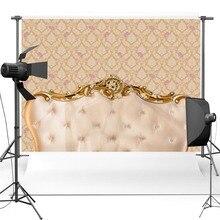 Luxo Barroco Vinil Fotografia Fundo cabeceira da cama tufados Material Novo Flanela F2518 Backdrops para Estúdio de Fotografia de Casamento