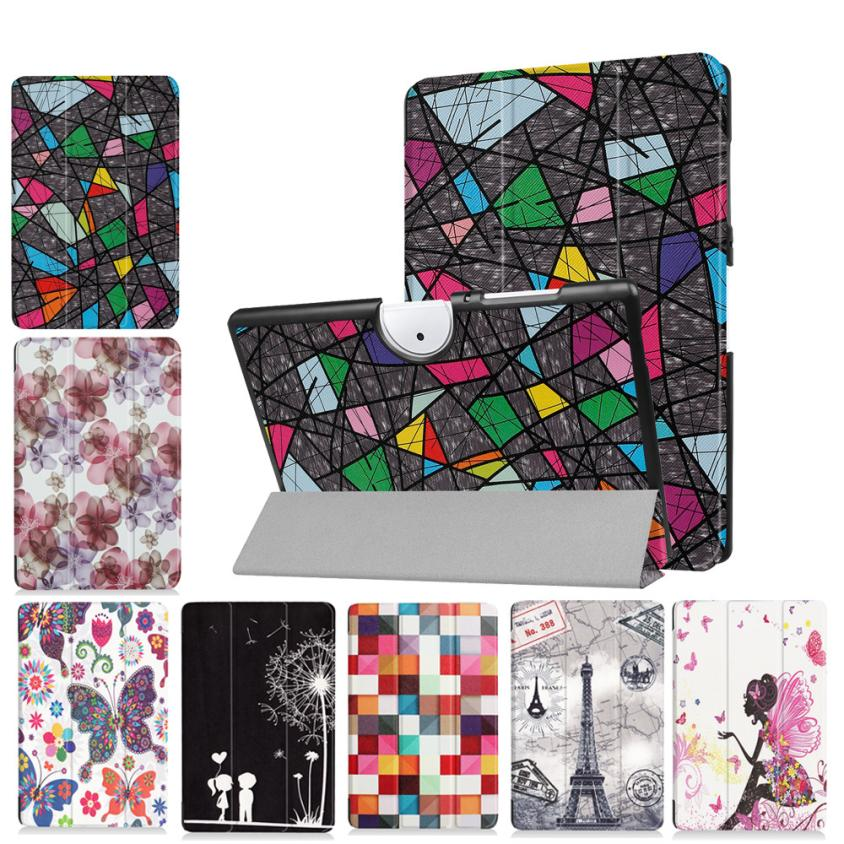 Folding Stand Leather Case Cover For Acer Iconia One 10 B3-A40 10.1inch Tablet Drop shipping JUL26 slim print case for acer iconia tab 10 a3 a40 one 10 b3 a30 10 1 inch tablet pu leather case folding stand cover screen film pen