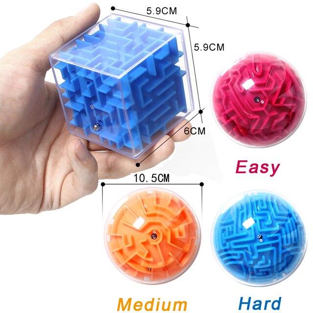Bola Laberinto Mini 3d Magico Intelecto Laberinto Bola Ninos
