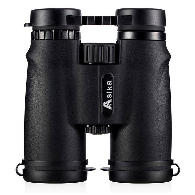 Asika 10x42 High quality Binoculars HD Professional Military Telescope lll Night Vision Binocular For Bird-watching Camping new military 10x42 binoculars professional telescope hd high quality binocular for camping hunting lll night vision feldstecher