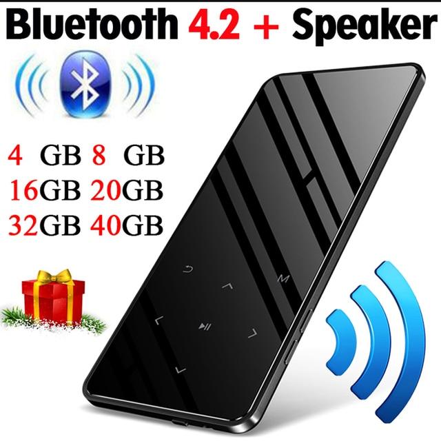 Btsmone Nuovo Bluetooth 4.2 Versione Dello Schermo di Tocco di Lettore MP3 Built in 16 Gb Portable Slim MP3 Player con Altoparlante Forte con La fm/Radio