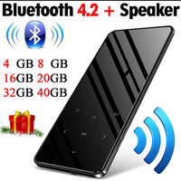 Btsmone new Bluetooth 4.2 version touch screen MP3 player built in 16GB Portable Slim MP3 player with loud Speaker with FM/Radio