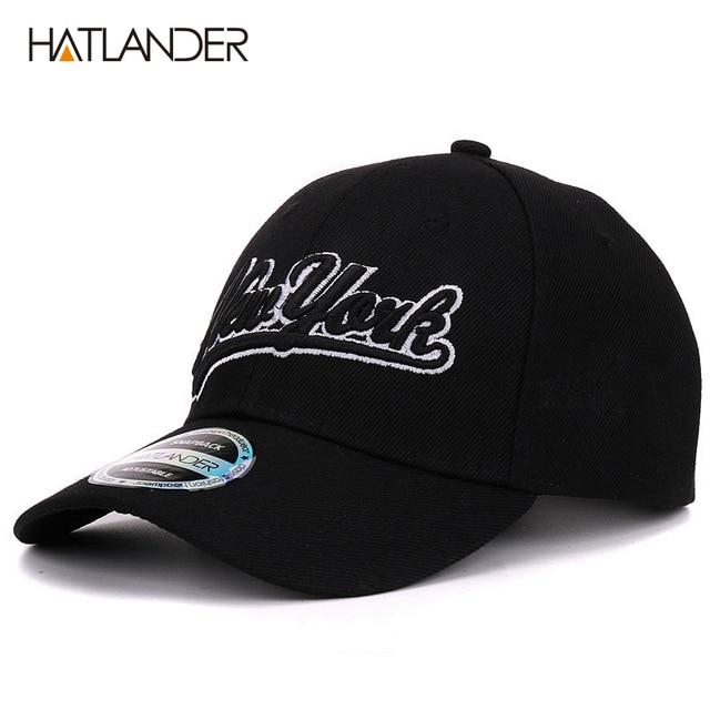 Hatlander New York black baseball caps Las Vegas adjustable sports cap  gorras chapeau bone hats homme letter casual caps unisex b448d684f25