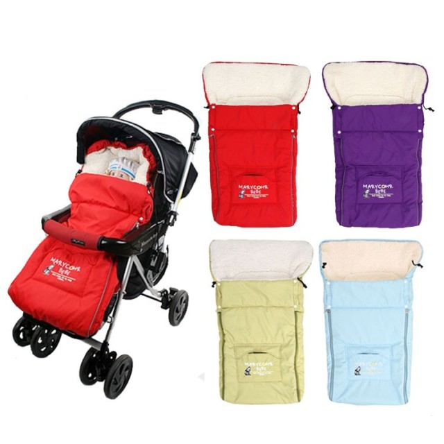 2016 Winter Warm Baby Stroller Sleeping Bags Baby Sleepsacks for Stroller Cart Basket Infant Fleebag Cotton Thick