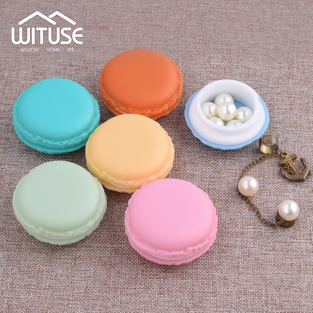 WITUSE Mini Earphone Card Macarons Bag Storage Box Case Carrying Pouch Small Pills Jewelry Trinket Box Organizing Candy Color