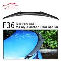 F36 M4 style Carbon Fiber Rear Spoiler Trunk Boot Lip for BMW 4 series F36 4 door Sedan Fastback 428i 430i 435i rear bumper tail