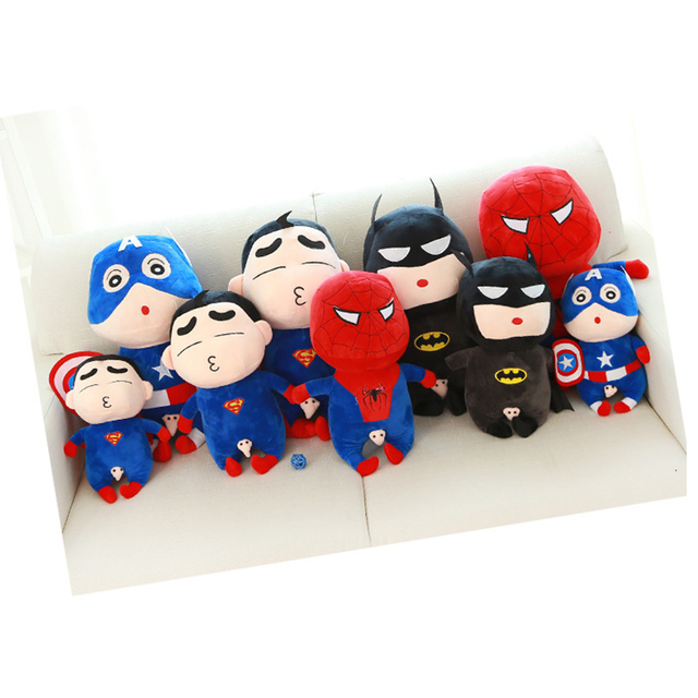 60 Cm Toy Doll Avengers Captain America Superman Spider man Batman Plush Toys Dolls Soft Cute Crayon Shin-chan Cartoon TY0019