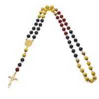 Top Quality Stainless Steel Necklace Men Or Women Jesus Catholic Rosary Beads Chain Necklace Cross For