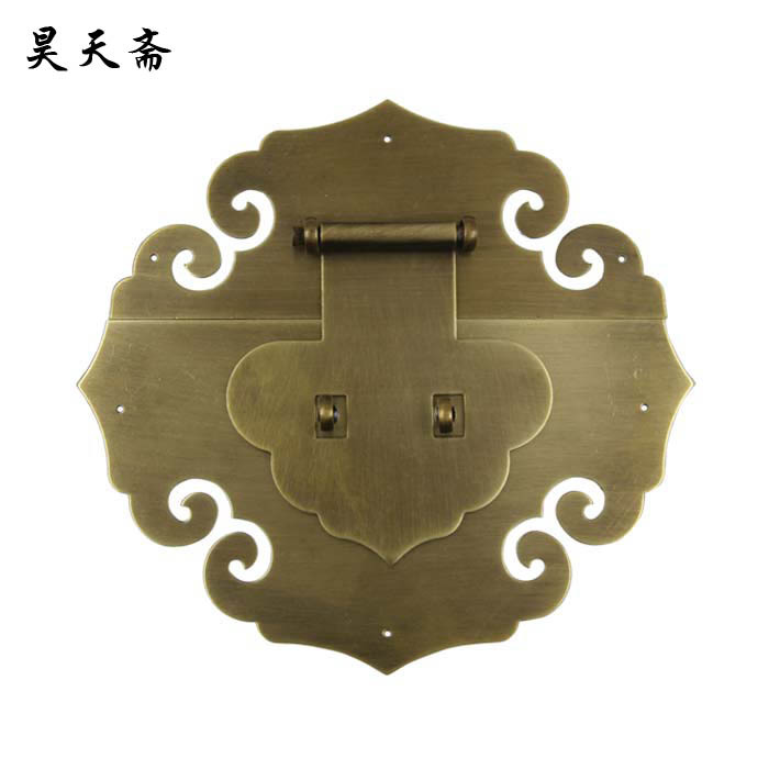 [Haotian vegetarian Chinese antique Ming and Qing Zhang Muxiang] bronze copper fittings suitable 80-130CM box купить