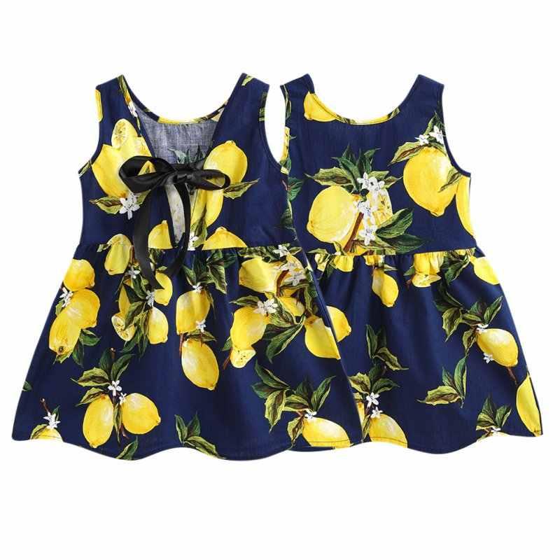 Летнее платье для девочек милое детское платье; милое детское платье принт платье из хлопчатобумажной смеси, Vestidos, одежда для детей и подростков без рукавов