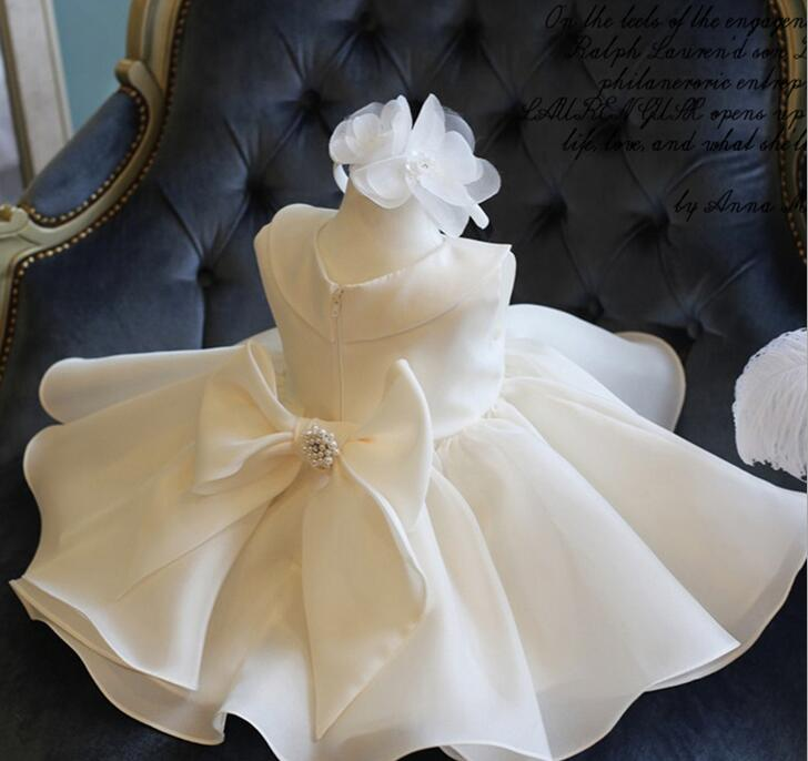 Top Quality Big Bow Girls Pageant Dresses For Baby Girl Princess Flower girl Dresses Kids Formal Wedding Party Christening GownTop Quality Big Bow Girls Pageant Dresses For Baby Girl Princess Flower girl Dresses Kids Formal Wedding Party Christening Gown