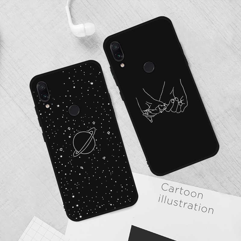 Bonito Padrão de Coração Caixa Do Telefone Para Xiaomi Redmi Nota 7 6 5 Pro Ultra Fino De Silício TPU Fosco Tampa Traseira em Redmi 6A 6 7 Caso Capa