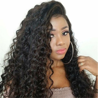 Deep Wave 180% Density Pre Plucked Full Lace Human Hair Wigs For Women With Baby Hair Brazilian Lace Wigs Bleached Knots You May
