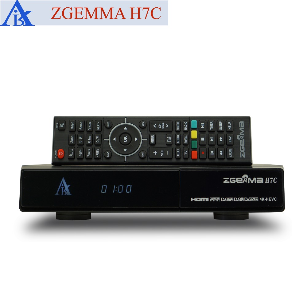 US $440 1 10% OFF|2pcs/lot 4K UHD Receiver ZGEMMA H7C with DVB S2X + 2*DVB  T2/C Dual Hybrid Tuners E2 Linux Satellite and Cable Receiver-in Satellite