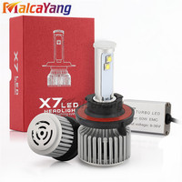 X7 High Brightness H4 H13LED Car Headlight Lamp 120W 9600LM High Low Beam Auto Front Headlamp