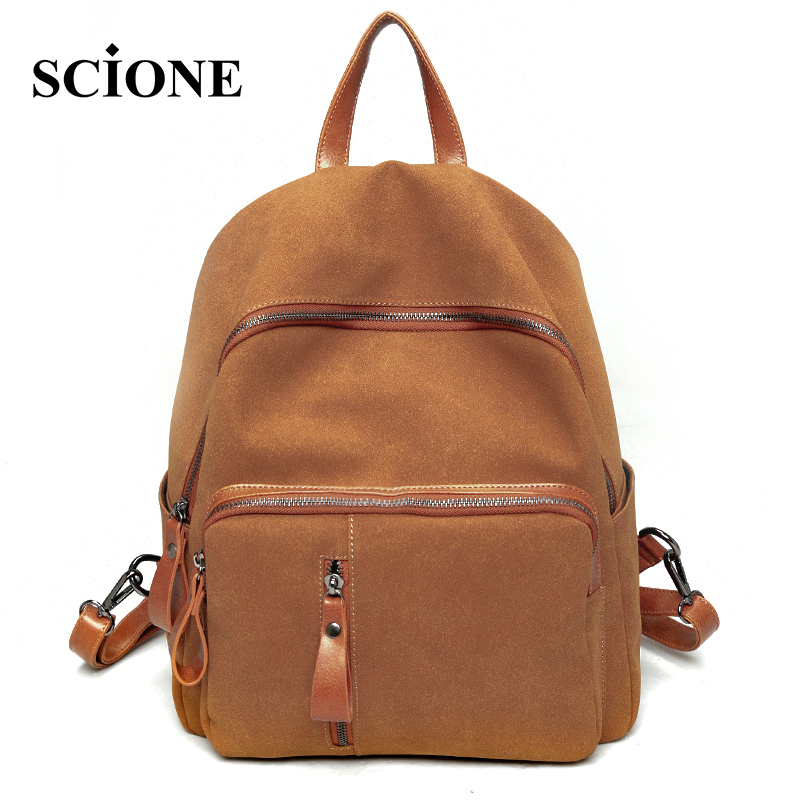 2017 Scrub Pu Leather Bag Preppy Style Shoulders Bags Simple Girls School Backpack For Women Travel
