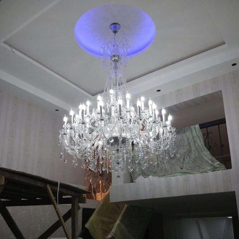 Modern Foyer Crystal Chandelier : Aliexpress buy modern large crystal chandelier for