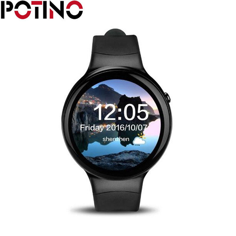 POTINO I4 Smart Watch Phone Android 5.1 SIM Smart Watch 1.39 inch 1GB 16GB WIFI 3G Heart Rate Monitor MTK6580 Quad Core dtno i d7 smart watch android 4 4 bluetooth 4 0 gps wifi 3g smartwatches heart rate monitor 1gb ram 8gb rom sim smart wristwatch