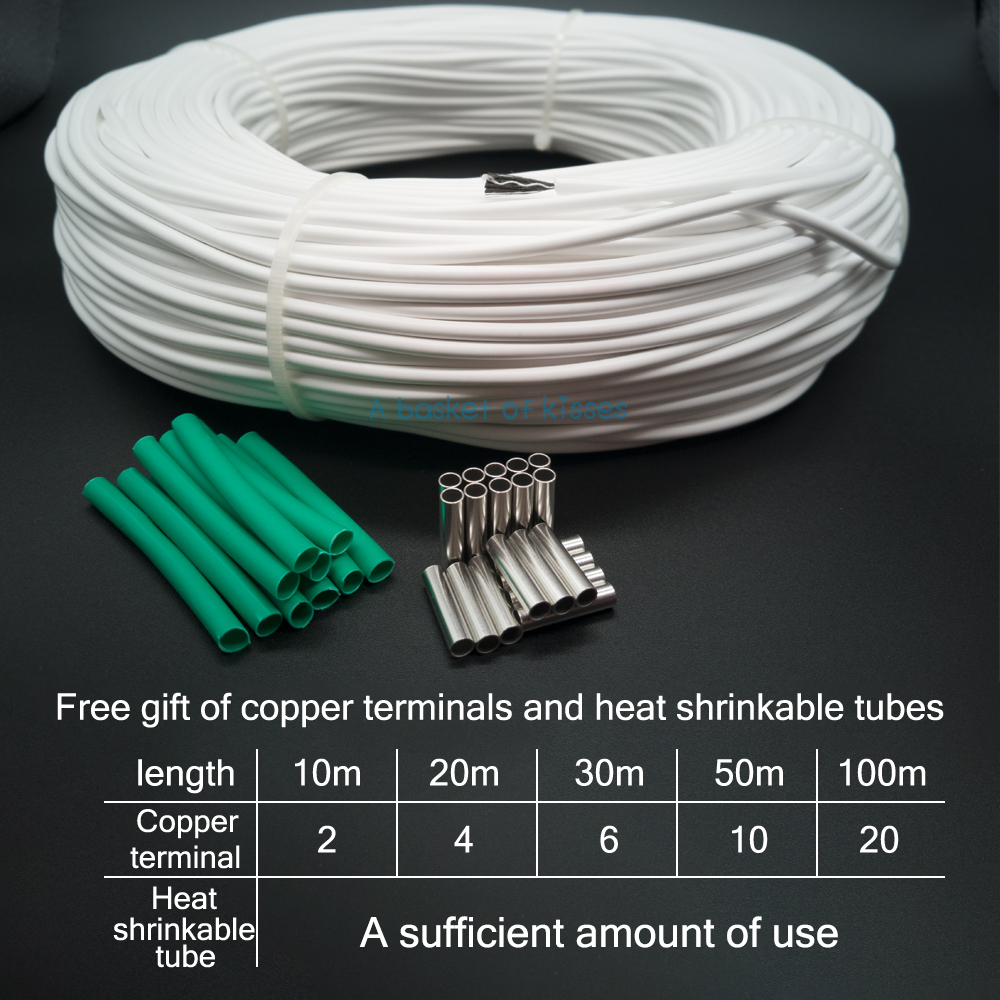30 Meters 12k 33ohm Infrared Carbon Fiber Heating Wire Cable Electrical Conduit For Safe Wiring Explained By An System European Equipment In Wires Cables From Lights Lighting On