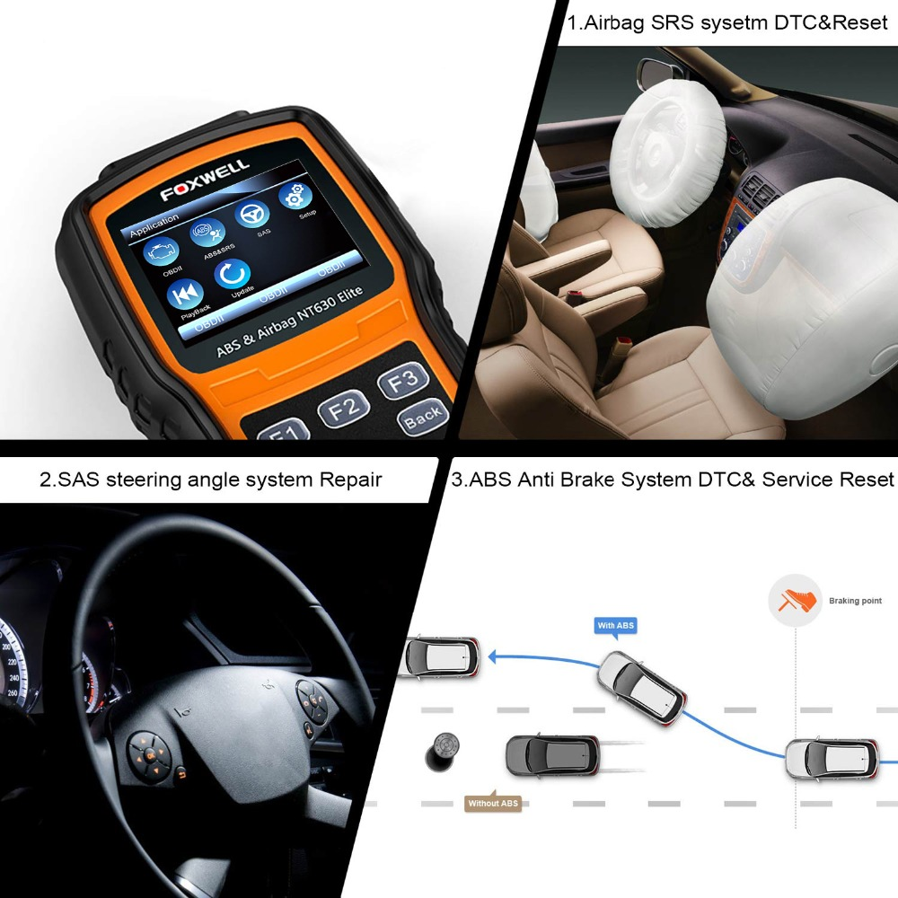 Image 3 - FOXWELL NT630 Elite OBD2 Automotive Scanner ABS SAS Airbag Crash Data Reset ODB2 Car Diagnostic Tool Machine OBD 2 Auto Scanner-in Code Readers & Scan Tools from Automobiles & Motorcycles on