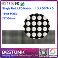 16 * 64 de led F3.75 P4.75 interior de matriz de led de 76 * 304 mm led digital tela led de publicidade outdoor diy