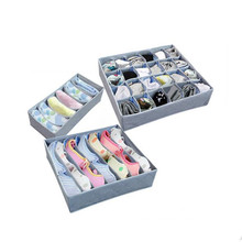 3 Pieces Of Non-Woven Storage Boxes For Bowstring Socks Shorts Underwear Bras Drawers