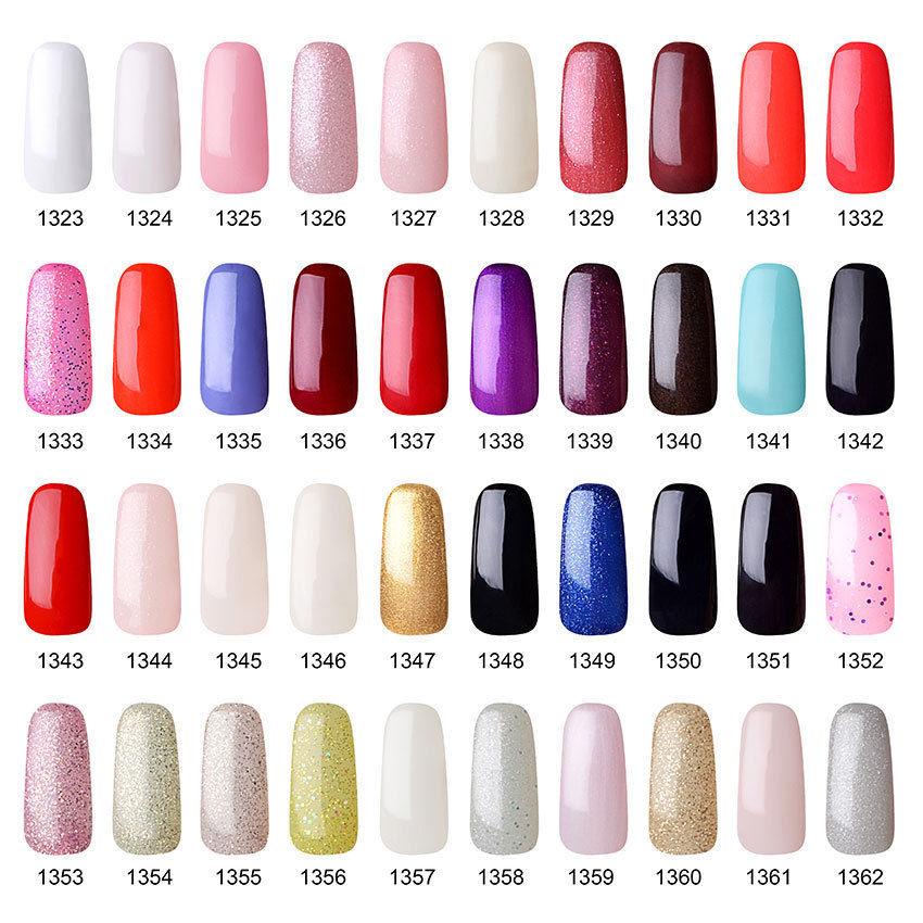 Vishine Pick 10 Colors 15ml Soak Off UV Gel Nail Polish Salon ...