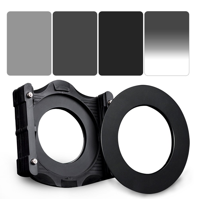 Zomei 6 in 1 Square Z-PRO Series Filter Holder Support + Adapter Ring 77(67 72 82 86)mm + Gradual Grey ND2+ND4+ND8+ND16 150*100 цена