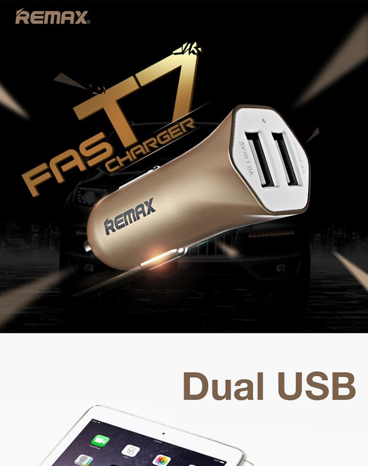 REMAX RCC204 Dual USB 3.4A ładowarka samochodowa Travel