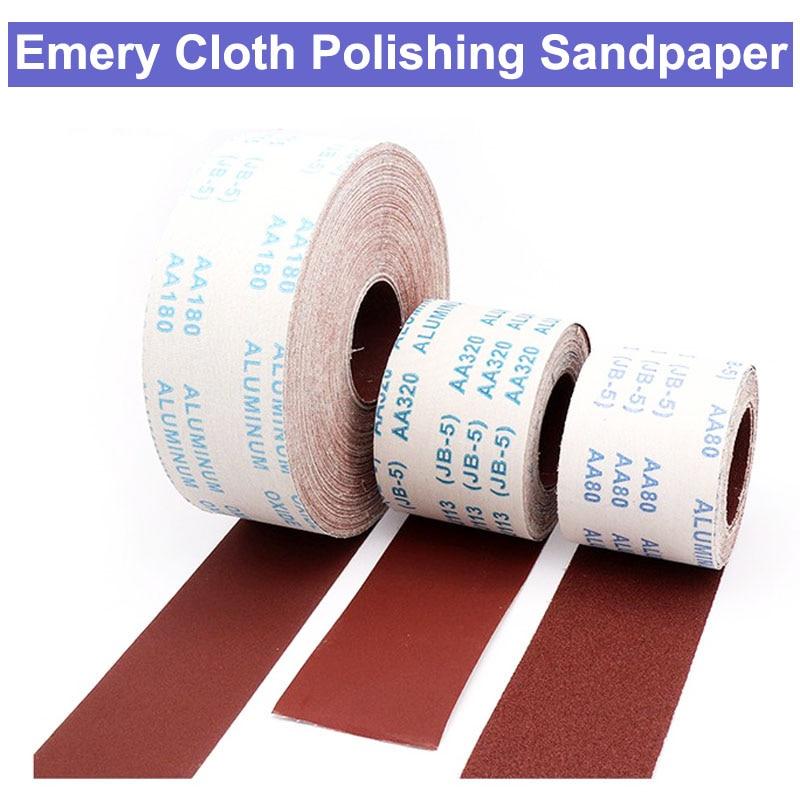 1 Meter 80-600 Grit Emery Cloth Roll Polishing Sandpaper For Grinding Tools Metalworking Dremel Woodworking Furniture Abravise