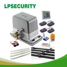 1800kg 4 keyfobs automatic gsm sliding gate motor operator opener with 8m nylon racks or 9m nylon racks
