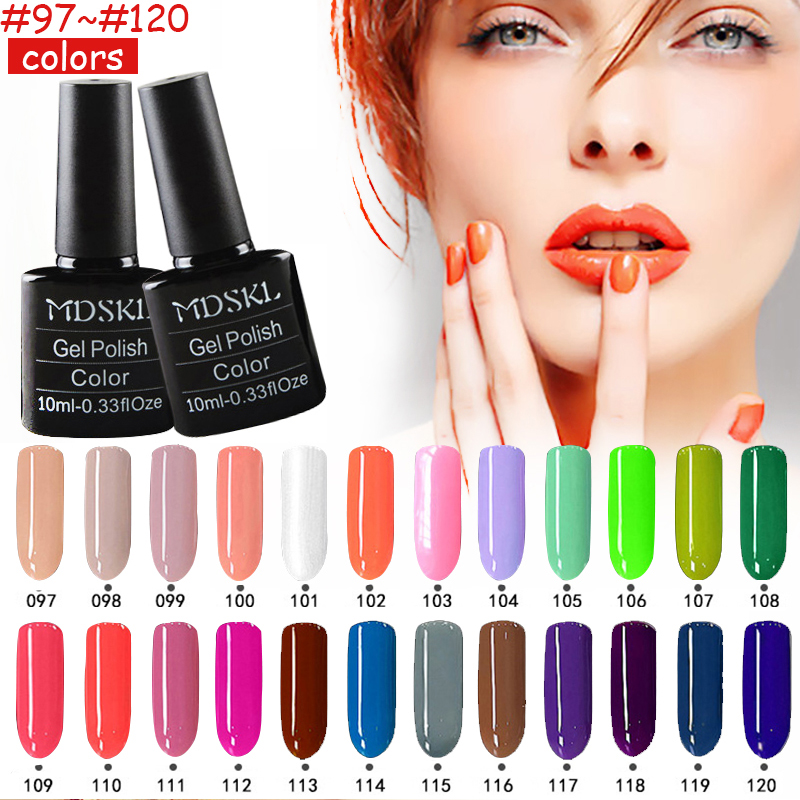 MDSKL 132 Colors New Style 10ml Long Lasting UV Gel Colorful Polishes Art N..
