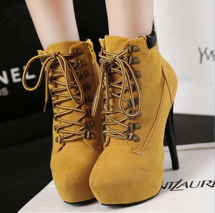 New Winter High Heel Ankle Boots For Women Platform Sexy Warm Autumn Boot Footwear Female Fashion Ladies Shoes Women458kiNew Winter High Heel Ankle Boots For Women Platform Sexy Warm Autumn Boot Footwear Female Fashion Ladies Shoes Women458ki
