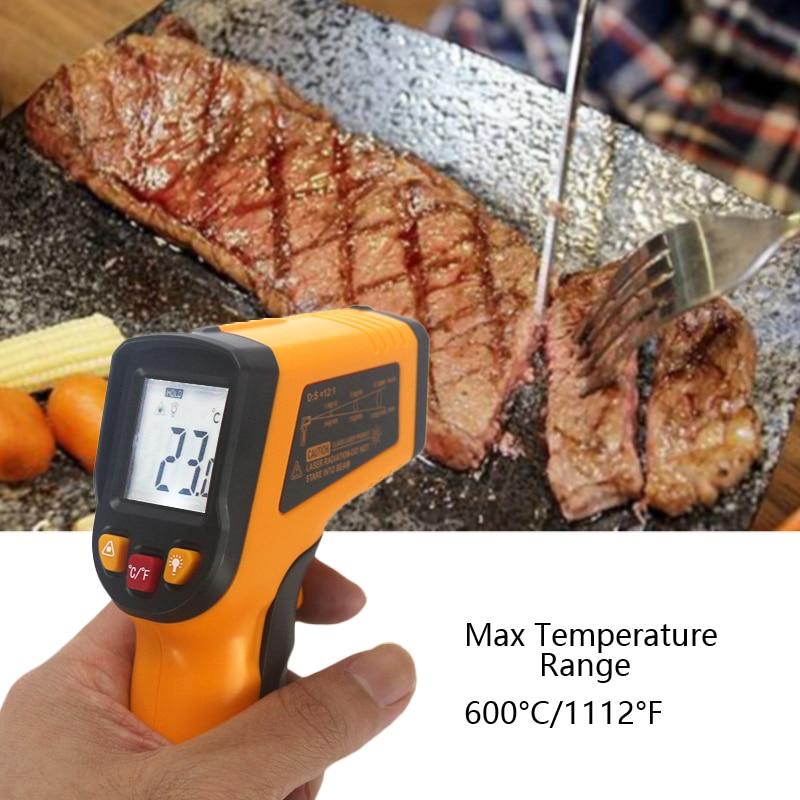 Nekontaktinis IR infraraudonųjų spindulių termometras -50 ~ 600C - Matavimo prietaisai - Nuotrauka 6