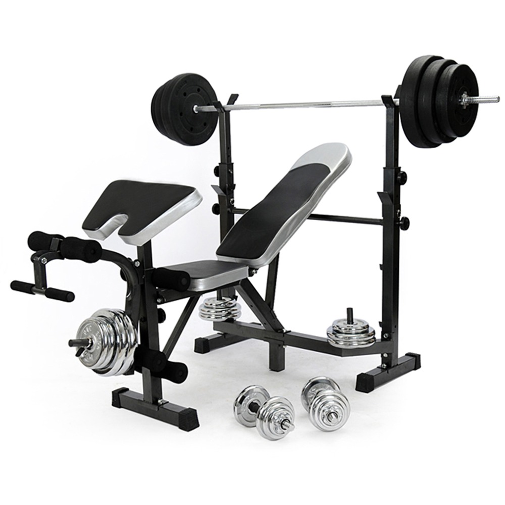 All In One Flat Fitness Weights Bench Multi Gym Dumbell