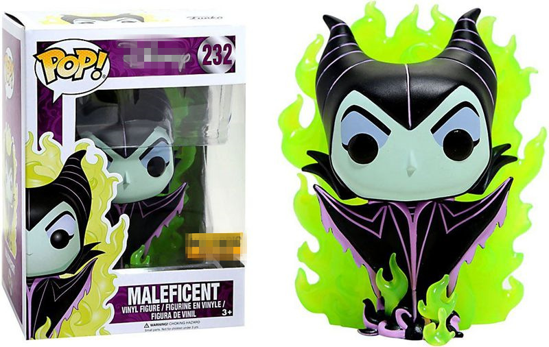 Exclusive Funko pop Official Maleficent With Flames #232 Vinyl Action Figure Collectible Model Toy with Original Box  funko pop official marvel doctor who dalek vinyl action figure collectible model toy with original box