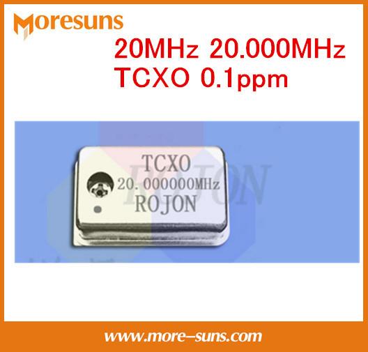Fast Ship Livre 2 pçs/lote 20 MHz 20.000 MHz cristal oscilador TCXO temperatura ppm-compensação