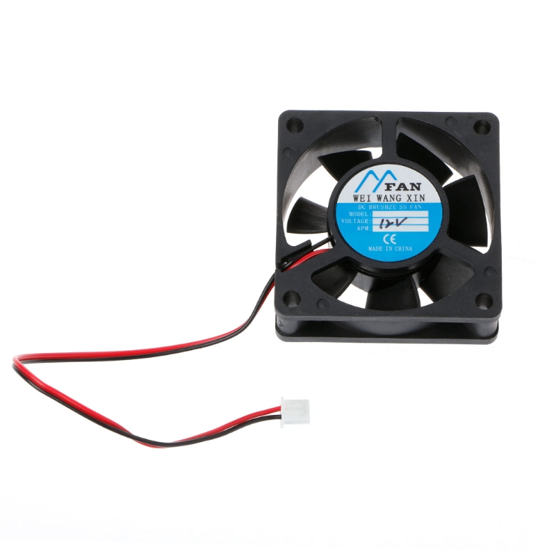 ANENG 60mm*60mm*20mm DC 12V 2 Pin Cooler Brushless Axial PC CPU Case Cooling Fan 6020 gdstime 10 pcs dc 12v 14025 pc case cooling fan 140mm x 25mm 14cm 2 wire 2pin connector computer 140x140x25mm