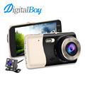 "DIGITALBOY 4.0"" Display Car DVRS Full HD 1080P 170 Degree Camera Recorder Auto Car Rearview Camcorder Dual Lens Dash Camera"