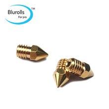 3d printer parts reprap m6 copper nozzle kit (0.3+0.4+0.5mm) for 1.75mm fialmemt 3d printer nozzle
