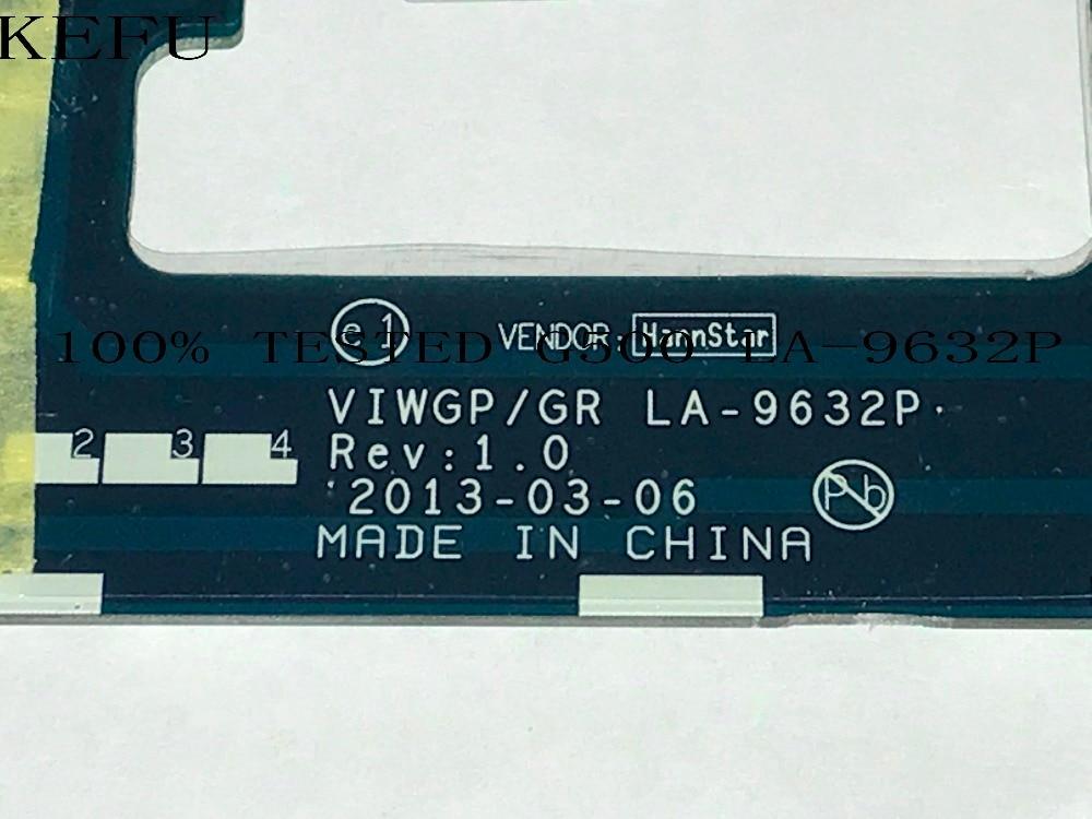 KEFU STOCK. VIWGP/GR LA-9632P (fit G500 La-9631p) Laptop Motherboard For LENOVO G500  (SUPPORT Core. I7 / I5 / I3  ) HM76