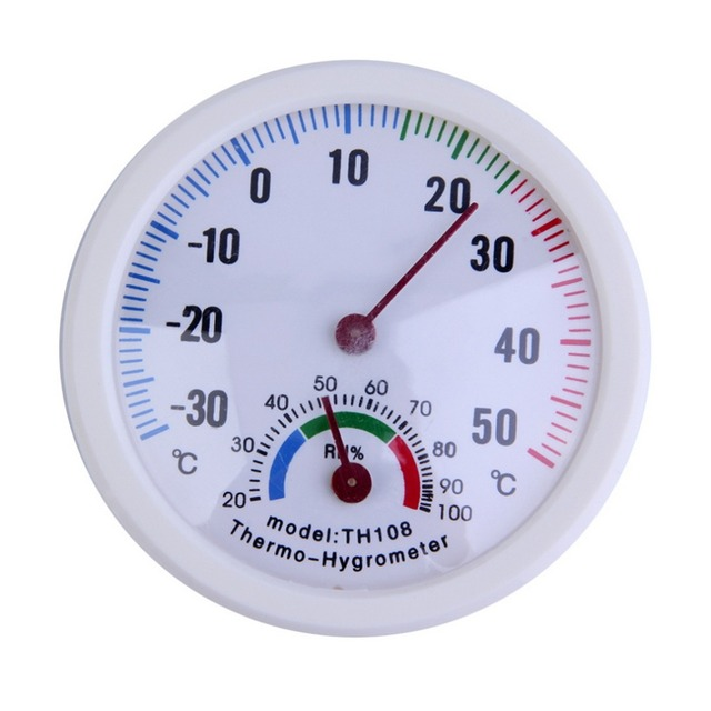 TS TH108 Indoor Healthy Thermometer Mini Home Hygrometer White Plastic Case  Humidity Thermometer